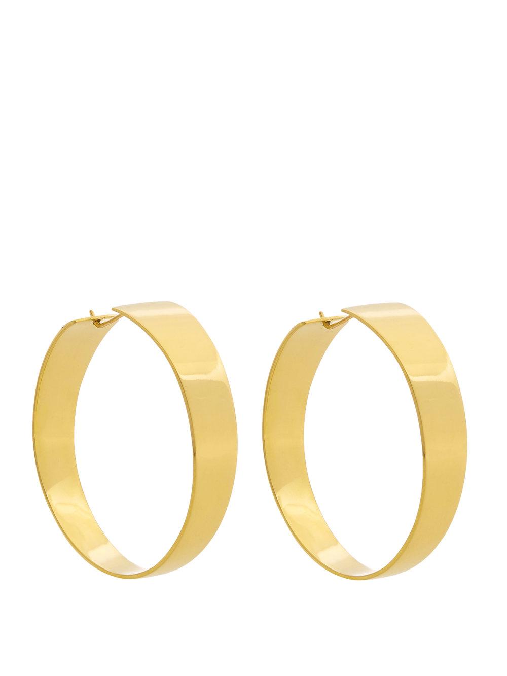 FAYE ANDRADA - gold hoop earrings