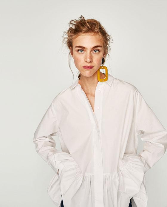 poplin shirt dress $50