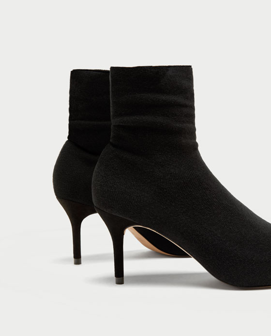 sock-style ankle boots $50