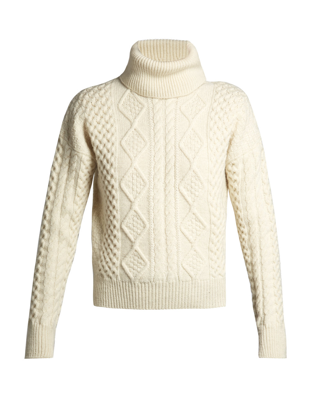 ivory cable knit - Saint Laurent / for less