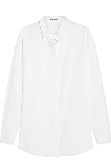 Acne Studios - I never leave home without an oversized white shirt. It doubles as an easy travel look, as well as a swimsuit cover-up. This one by Acne is my favorite, but if you're looking for something more travel-friendly, this shirt is a great option, too.