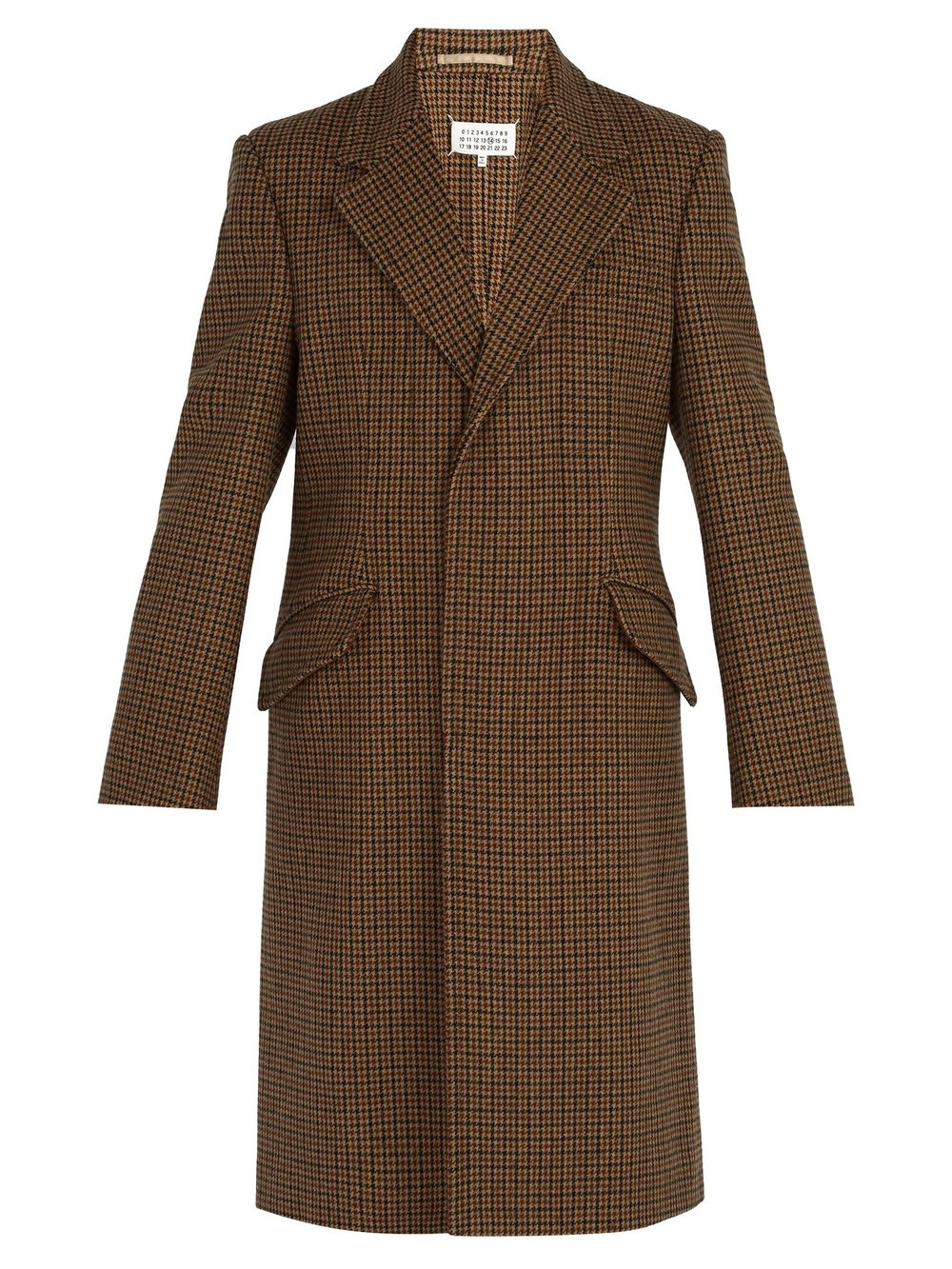 MAISON MARGIELA - if I ever were to convert my husband to becoming a Margiela wearer, this wool houndstooth coat would be it.