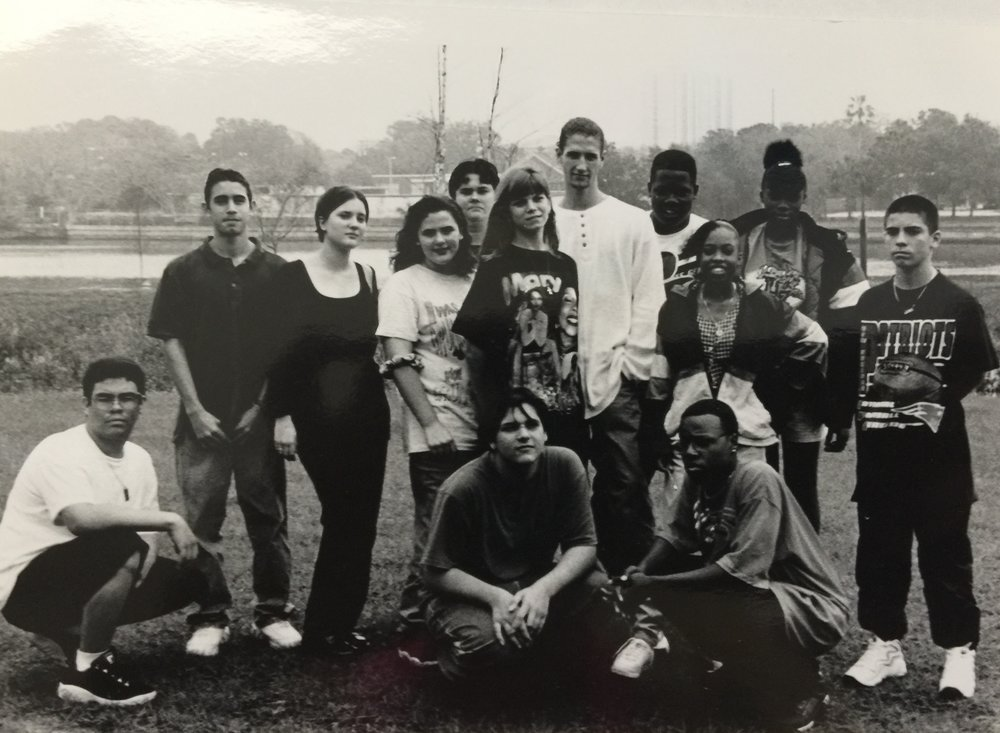 "Ms. Galgani's photography class circa 1997 that I helped as a student teacher. ""They are eager,"" I wrote then, ""to learn to make images."""