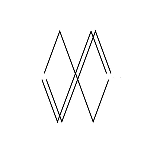 Mary Warner // logo   To represent the integration of my work in visual design and communications, as well as fine art.