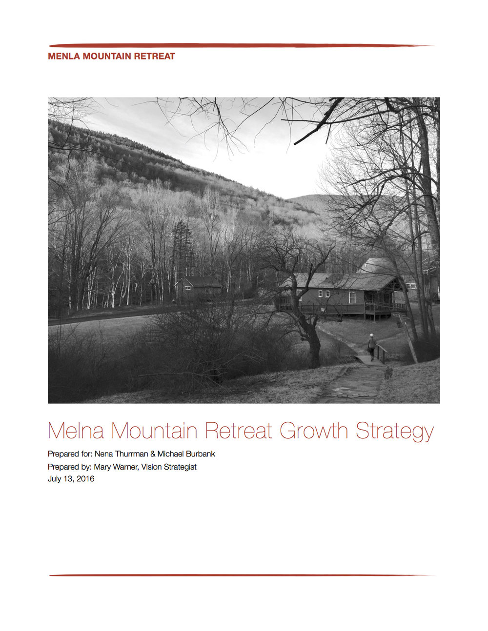 Menla Mountain Retreat // internal documents  Developed market and brand strategy to strengthen outreach of retreat center and U.S. outreach of the Dalai Lama for Tibetan Buddhism.   Plans included review of all brand assets across platforms to ensure the clarity and consistency of the brand, as well as social media analysis.
