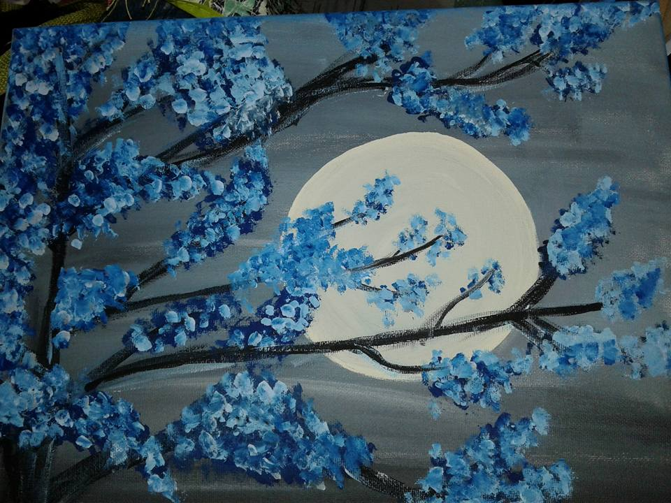 Come paint your very own version of this moonlit scene!