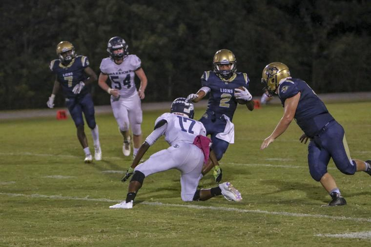 Brian Borrero     Loganville Christian Academy's Brian Borrero had a kickoff return for a touchdown during the Lions 28-21 loss to Deerfield-Windsor Friday night in Albany.