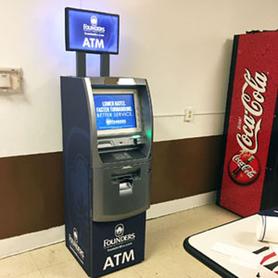 Founders FCU Branded ATM at Shutterfly
