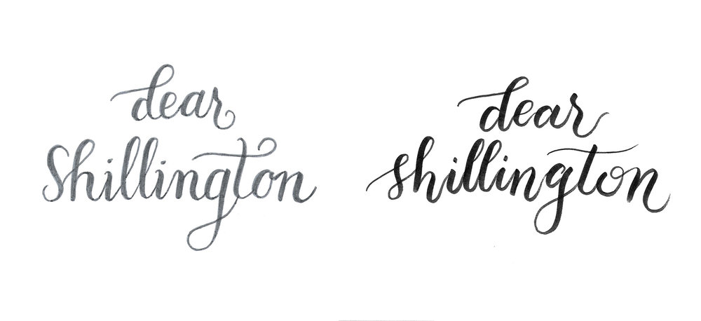 It really is all about practice. On the left was one of the first times I tried Crayligraphy, one month into my calligraphy journey. On the right, was after just three months practice.