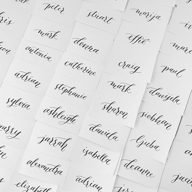 #weddingstationery #weddingcard #namecards #placecards #escortcards #calligraphy #calligratype #calligraphylove #calligraphydaily #calligraphyaddict #customtype #brushscript #thatsdarling #moderncalligraphy #calligraphymasters #calligrapher #sydneycalligrapher #australiancalligrapher