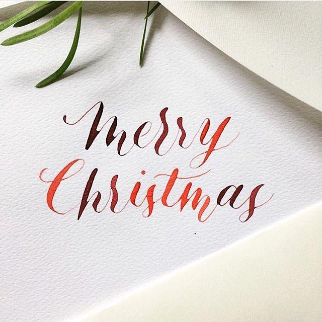 Merry Christmas everyone! Hope your day is blessed 🎄❤️ . #christmas #merrychristmas #calligraphy #calligratype #calligraphylove #calligraphydaily #calligraphyaddict #calligraphycommunity #australiancalligrapher #sydneycalligrapher #typematters #typeinspire #typebyhand #nikkognib #watercolour #christmasday #calligraphymasters #calligraphypractice