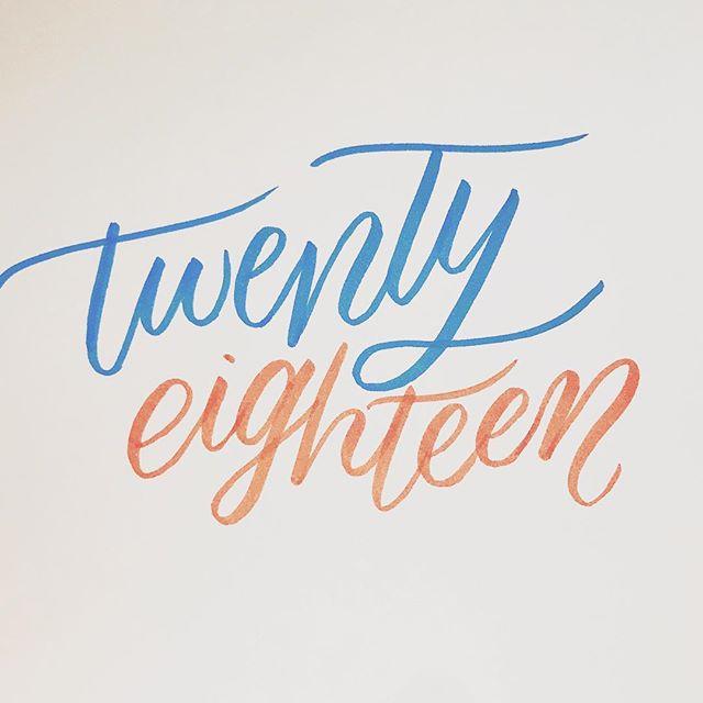 2018 is just around the corner. The countdown to the New Year has begun! . #2018 #newyear #twentyeighteen #calligratype #calligraphyart #calligraphylove #calligraphymasters #calligraphyaddict #calligraphycommunity #calligraphydaily #lettering #handlettering #handletteringpractice #typematters #typeinspire #type #handtype #typography #thedailytype #letteringleague #strengthinletters #goodtype #thatsdarling #flashesofdelight #artoftype #dslettering  #sydneycalligrapher #australiancalligrapher