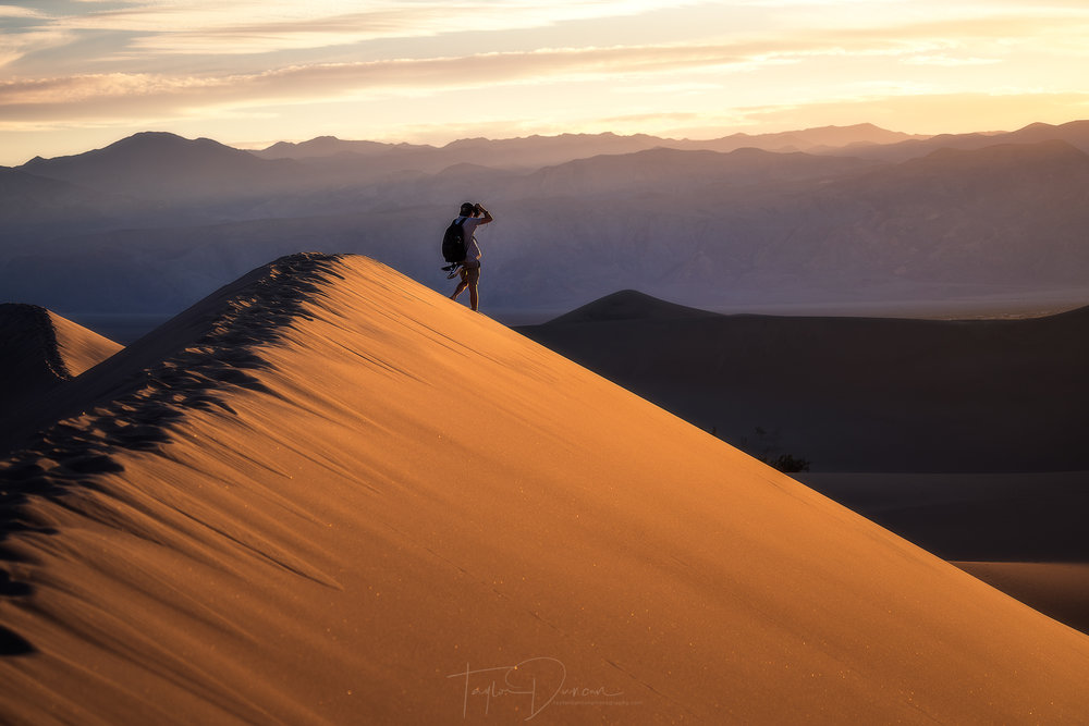 @cameronrosin  getting the sunset shot in the Mesquite Flat Dunes