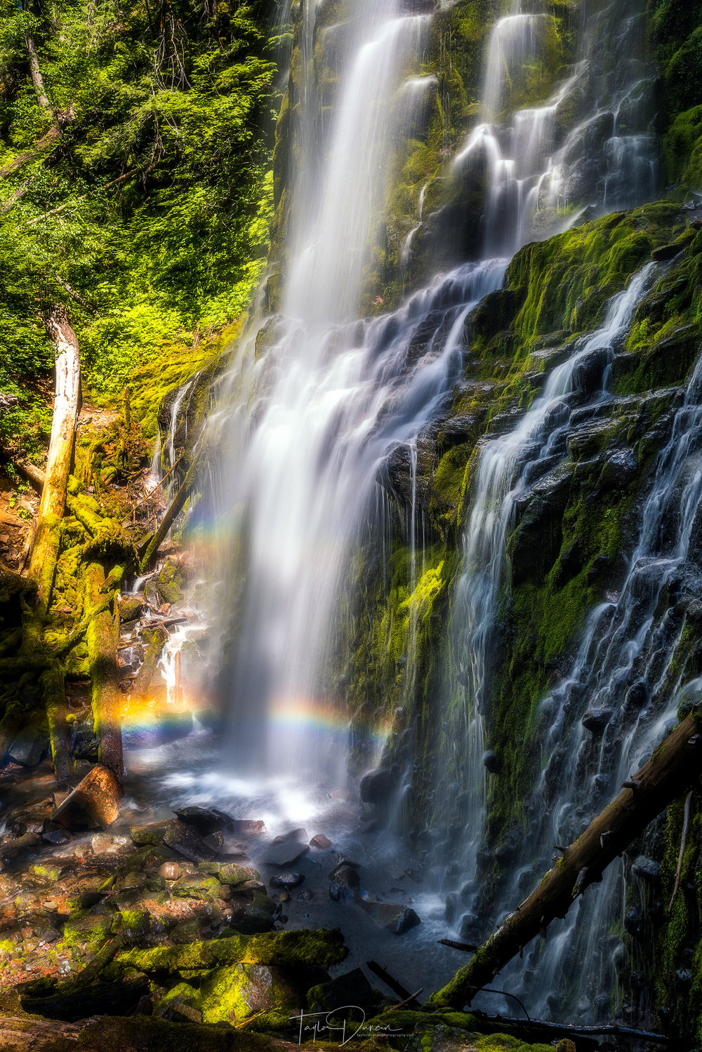 Hike up to the right side of the falls for a chance to see a rainbow!