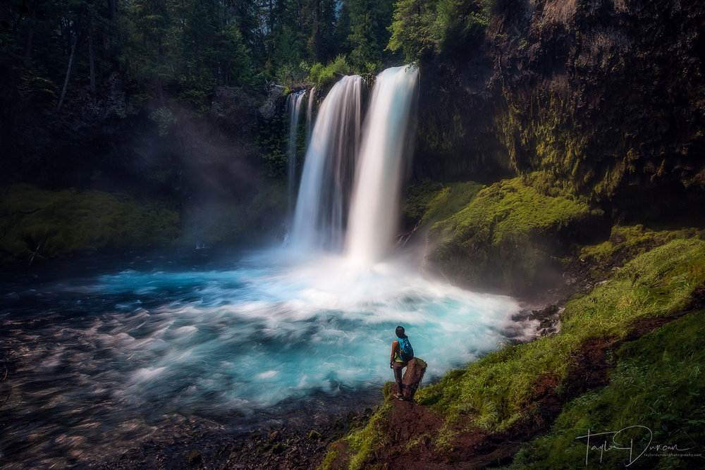 @annadouangphachanh  takes in the power of Koosah Falls