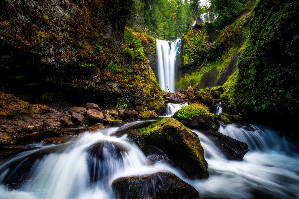 Falls Creek Falls from the creek level