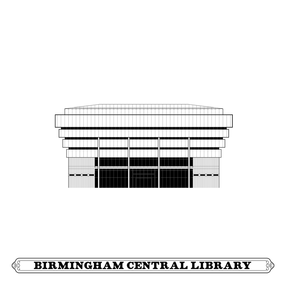 BIRMINGHAM CENTRAL LIBRARY     [Architectural Study]   JOHN MADIN DESIGN GROUP, 1974 demolished 2016