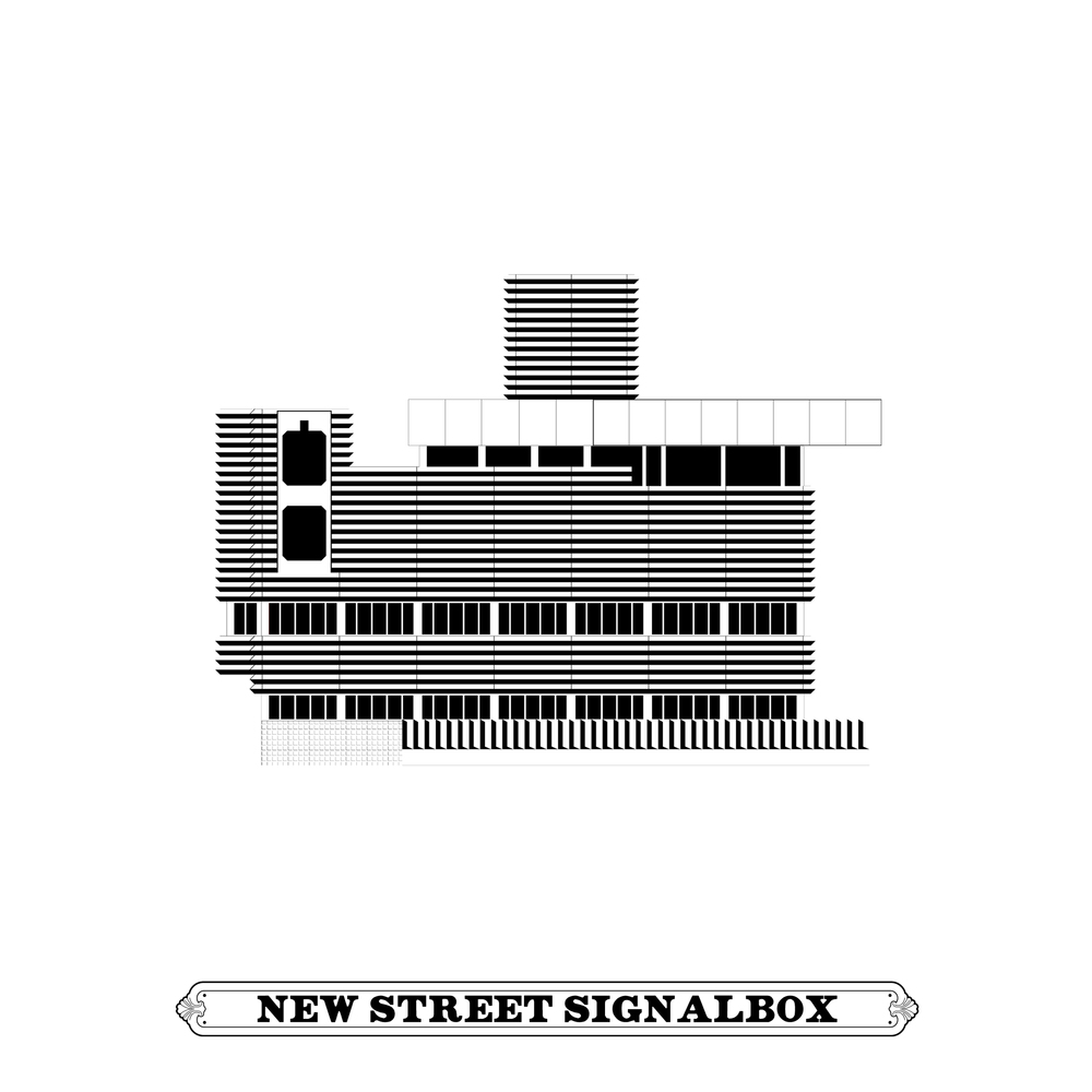 NEW STREET SIGNAL BOX  [Architectural Study]  BICKNELL & HAMILTON, 1965 grade II listed