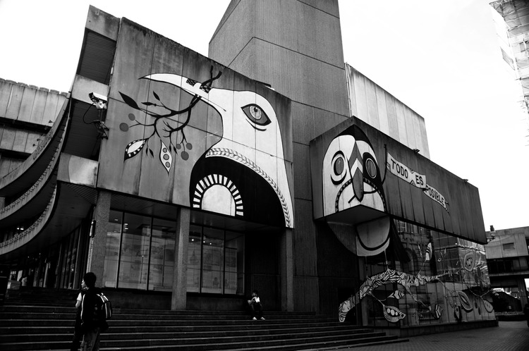 "Todo Es Posible   Lucy McLauchlan, (2010) – Central Library mural as protest on the plans for demolition. On describing her work: ""It is an offence under Section 1 of the Wildlife and Countryside Act of 1981 to intentionally take, damage or destroy the nest of any wild bird while it is in use or being built."""