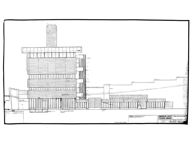 NATIONAL RAIL ARCHIVES  Image shows the original elevation of the signalbox and telephone exchange.