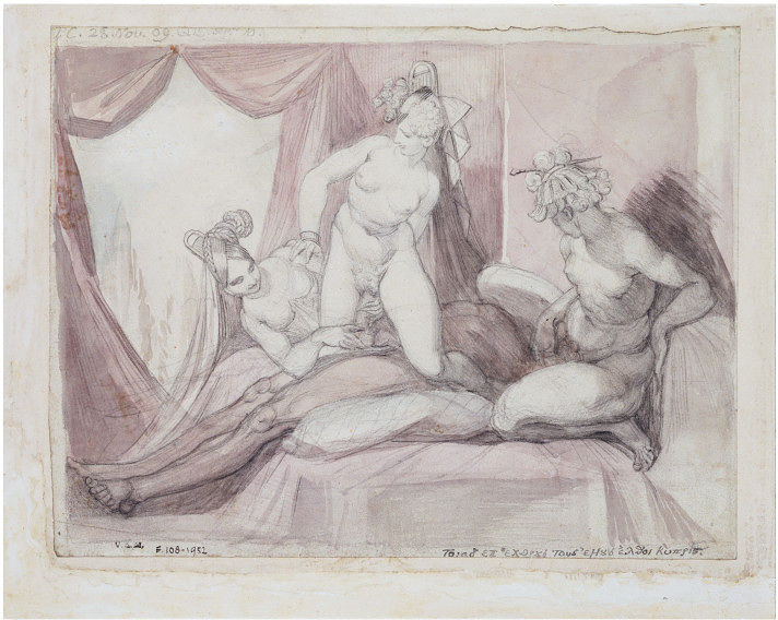 Fuseli's watercolor; from V&A's  collections .