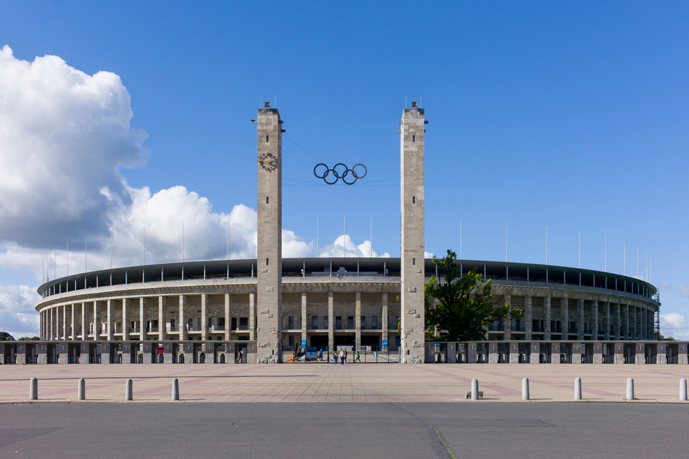 Olympic Stadium, Berlin. Designed by architect Werner March.