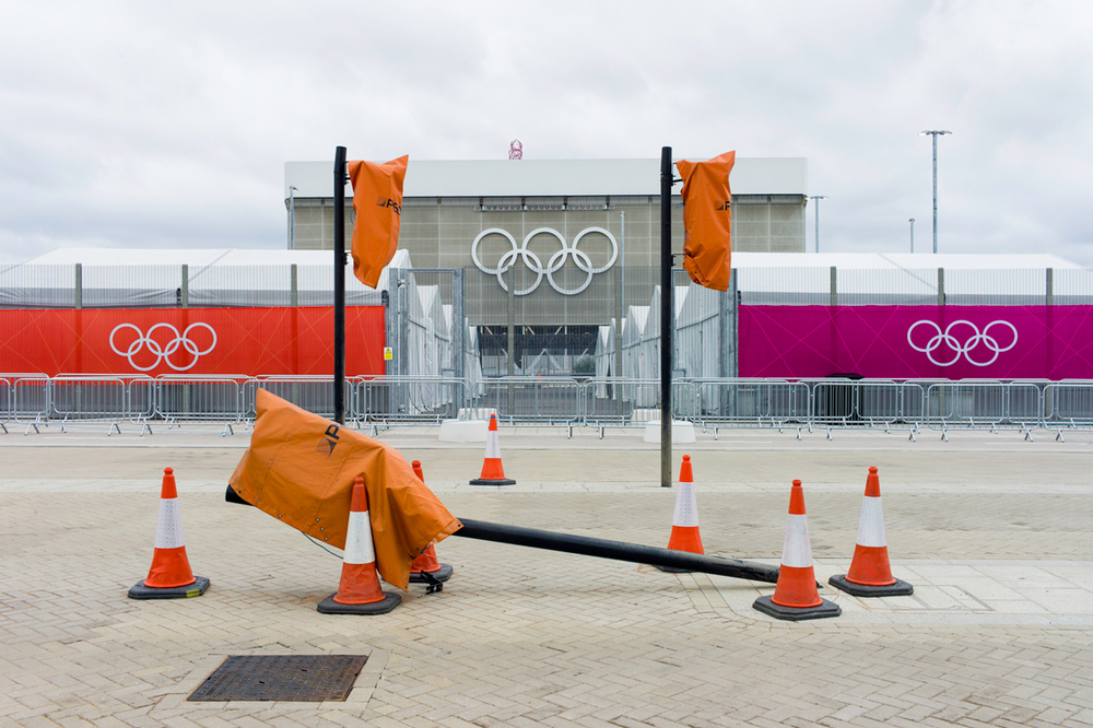 Entrance to Queen Elizabeth Olympic Park, London.