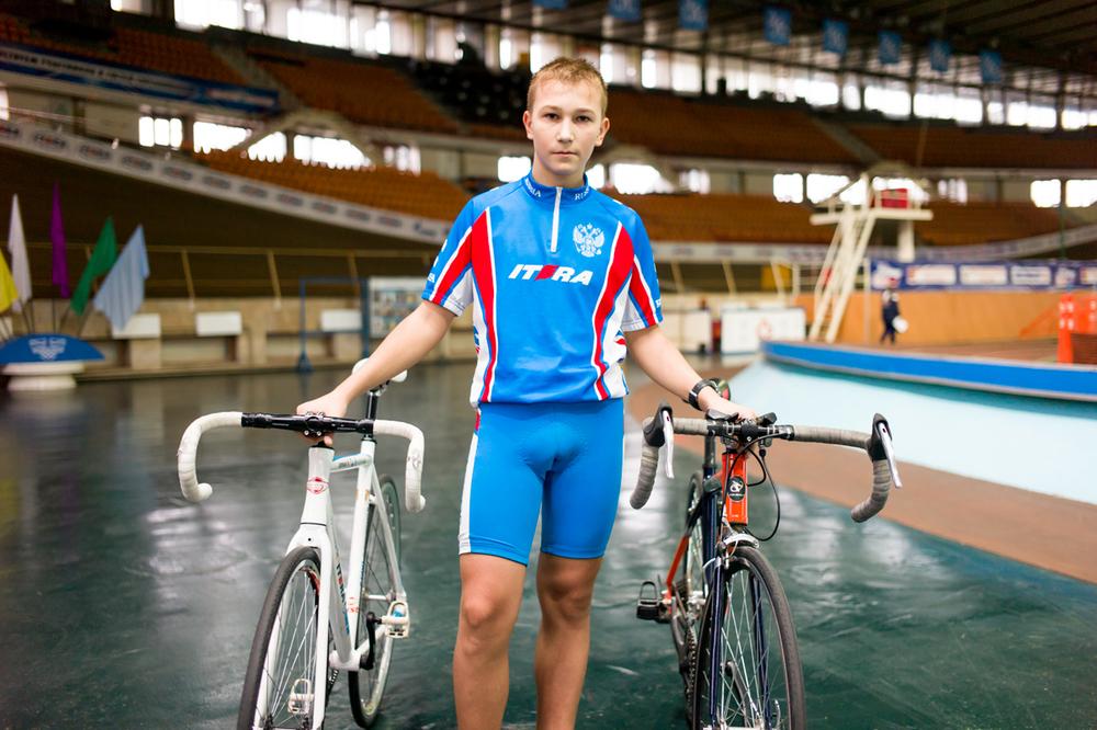 Cyclist, Krylatskoye Sports Complex Velodrome, Moscow.