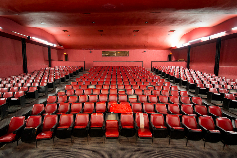 Cinema in the Olympic Village, Mexico City.