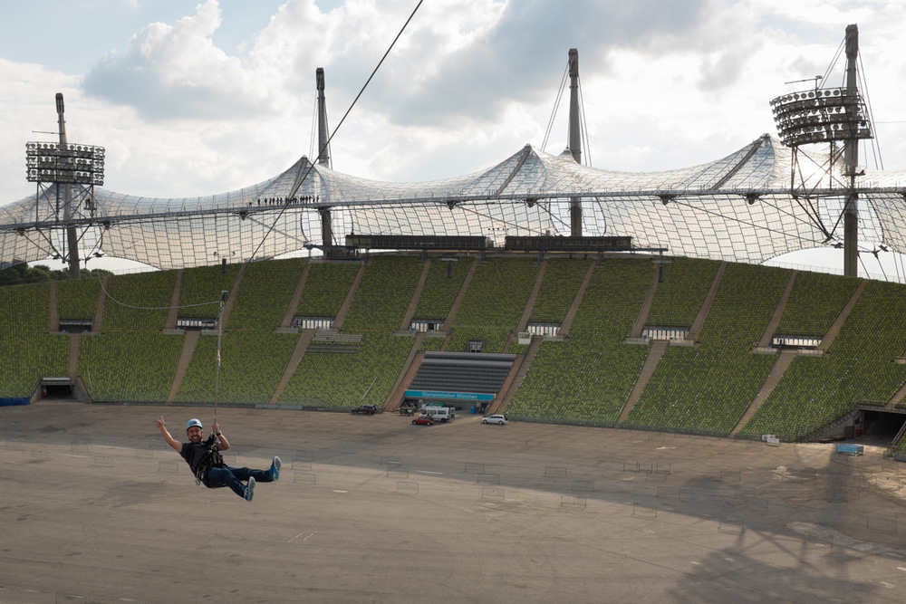 Zip Line Rider, Munich Olympic Stadium