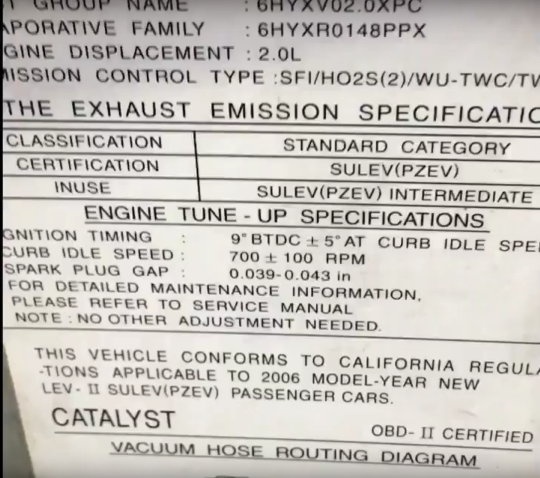 How to read the under hood emissions label how to automotive how to read the under hood emissions label ccuart Image collections