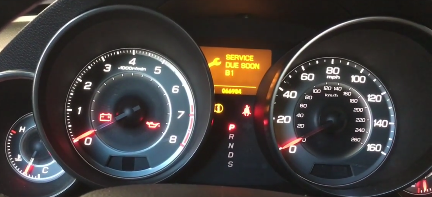 How to Reset the Oil Change/Service B1 Due Light on a 2010