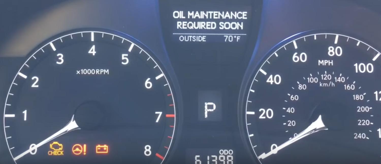 lexus rx 350 maintenance required light reset
