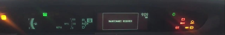 2013 highlander reset maintenance light