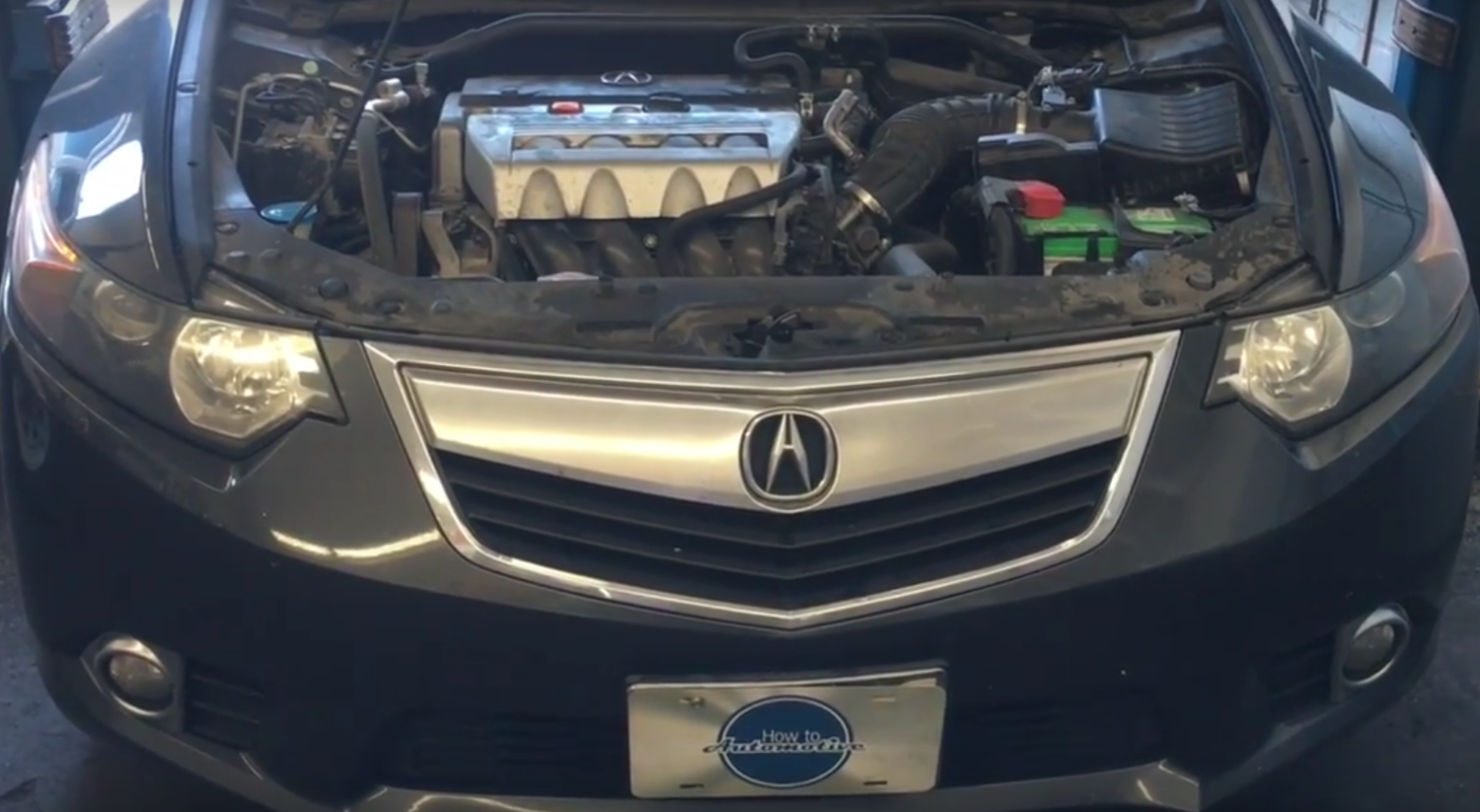 How To Replace The Spark Plugs On A Acura TSX With L - 2018 acura tsx grill replacement