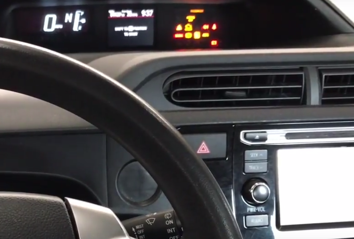 How to Reset the Maintenance Required Light on a 2015-2016 Toyota Prius C
