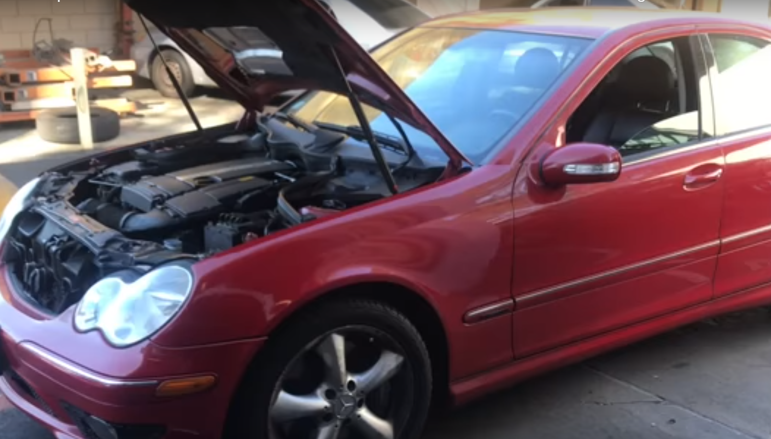 How to Replace the Thermostat on a 2001-2007 Mercedes C230 W203 with