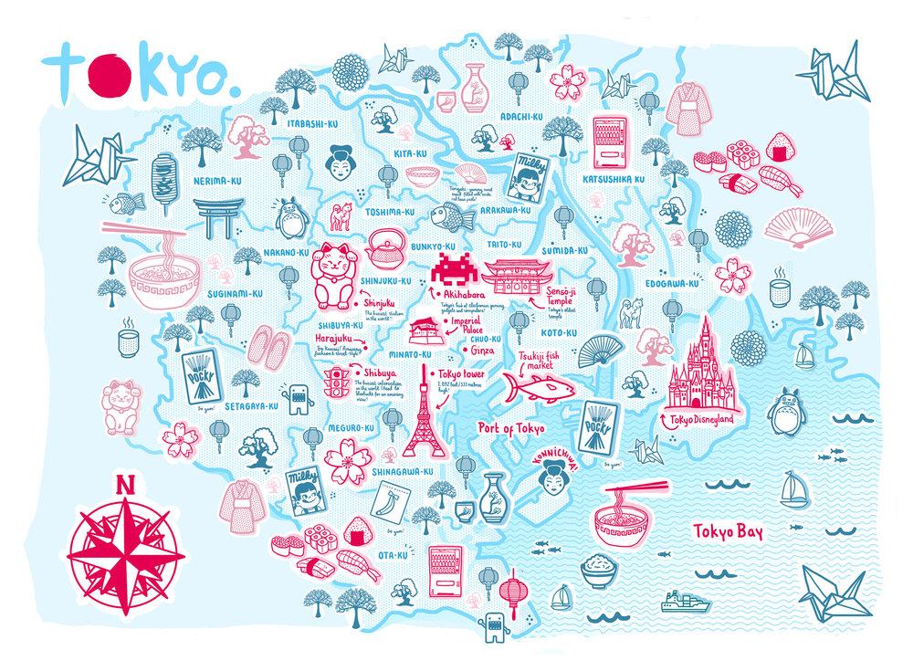 TOKYO MAP Rosie Apps