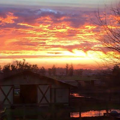 Lovely Sunrise and upper smaller barn