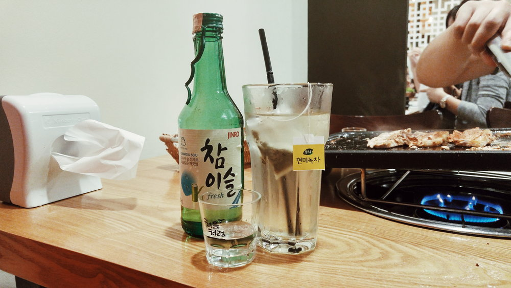 it's not a Korean grill session without our favorite Jinro soju.