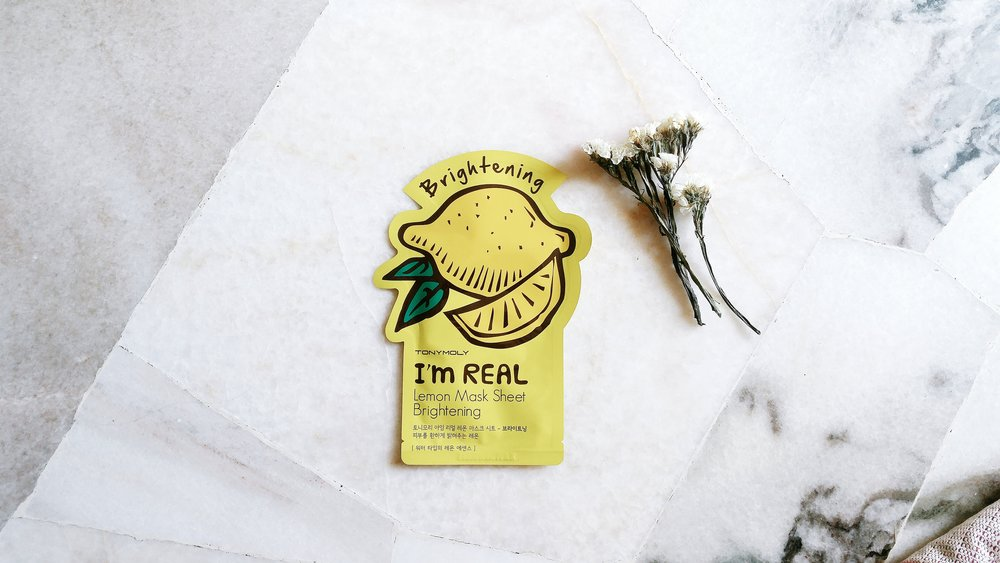 TONYMOLY I'm Real Lemon Mask Sheet—Brightening. such cute package, plus it's bright yellow ;)