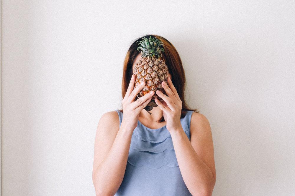 pineapple face. june 2017