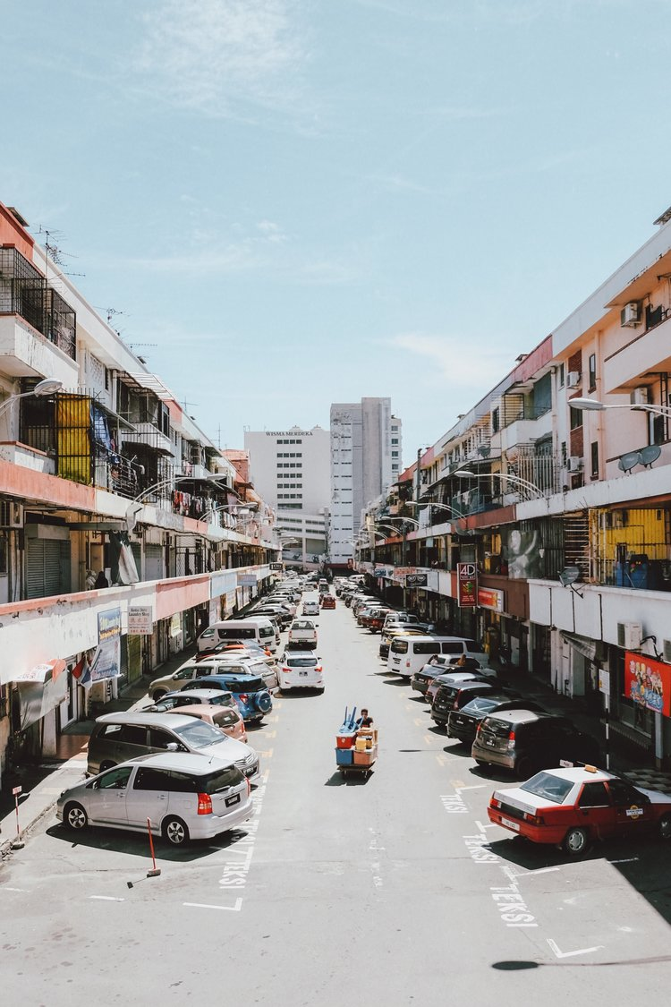on the streets of. south east asia -