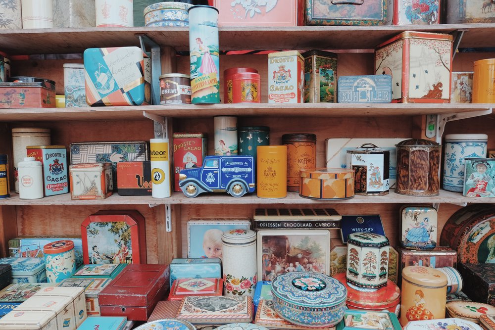 beautiful old tins.