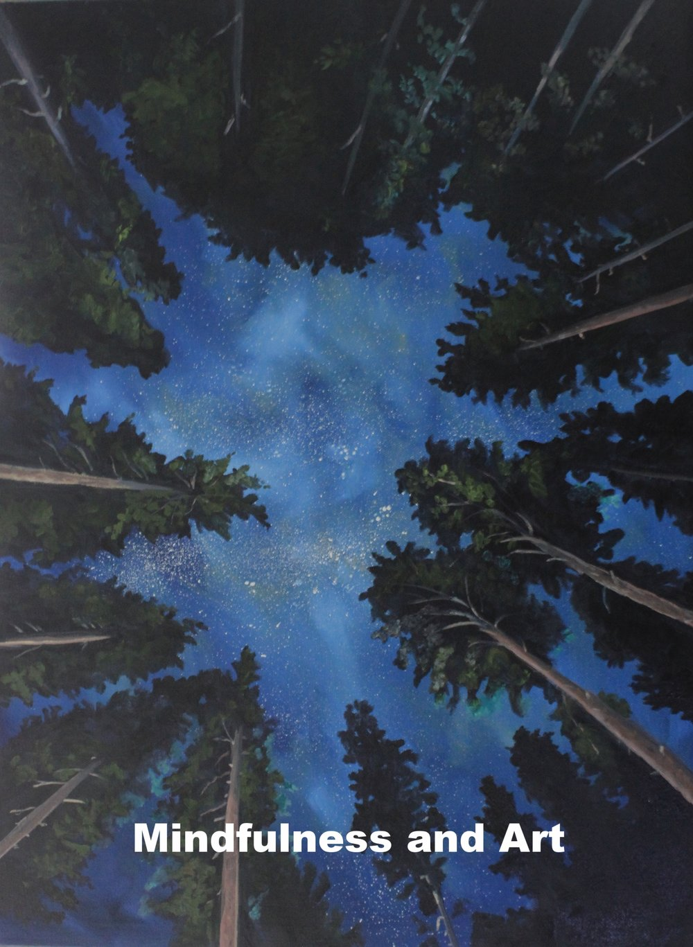 Night Woods, Starry sky, original oil painting