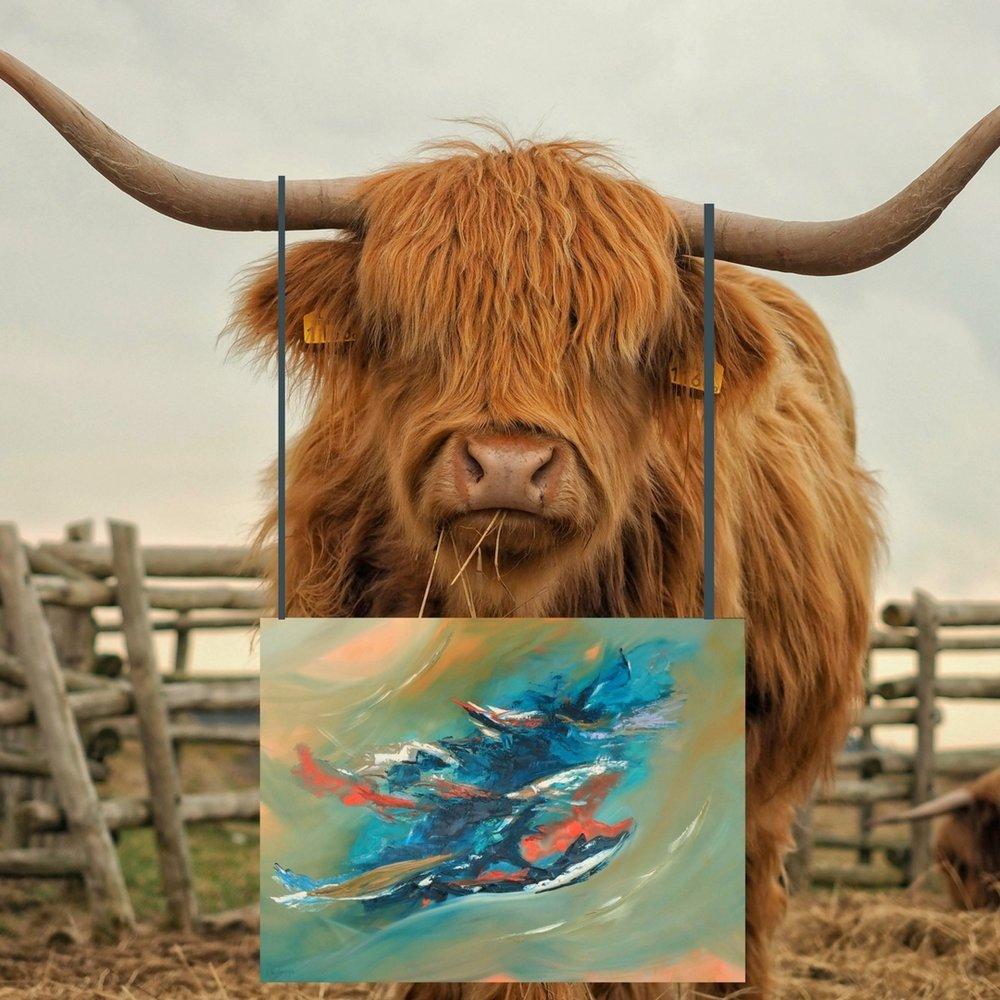 """Grateful 48"""" x 36"""" CDN$1,800.00 Oil on Canvas"""