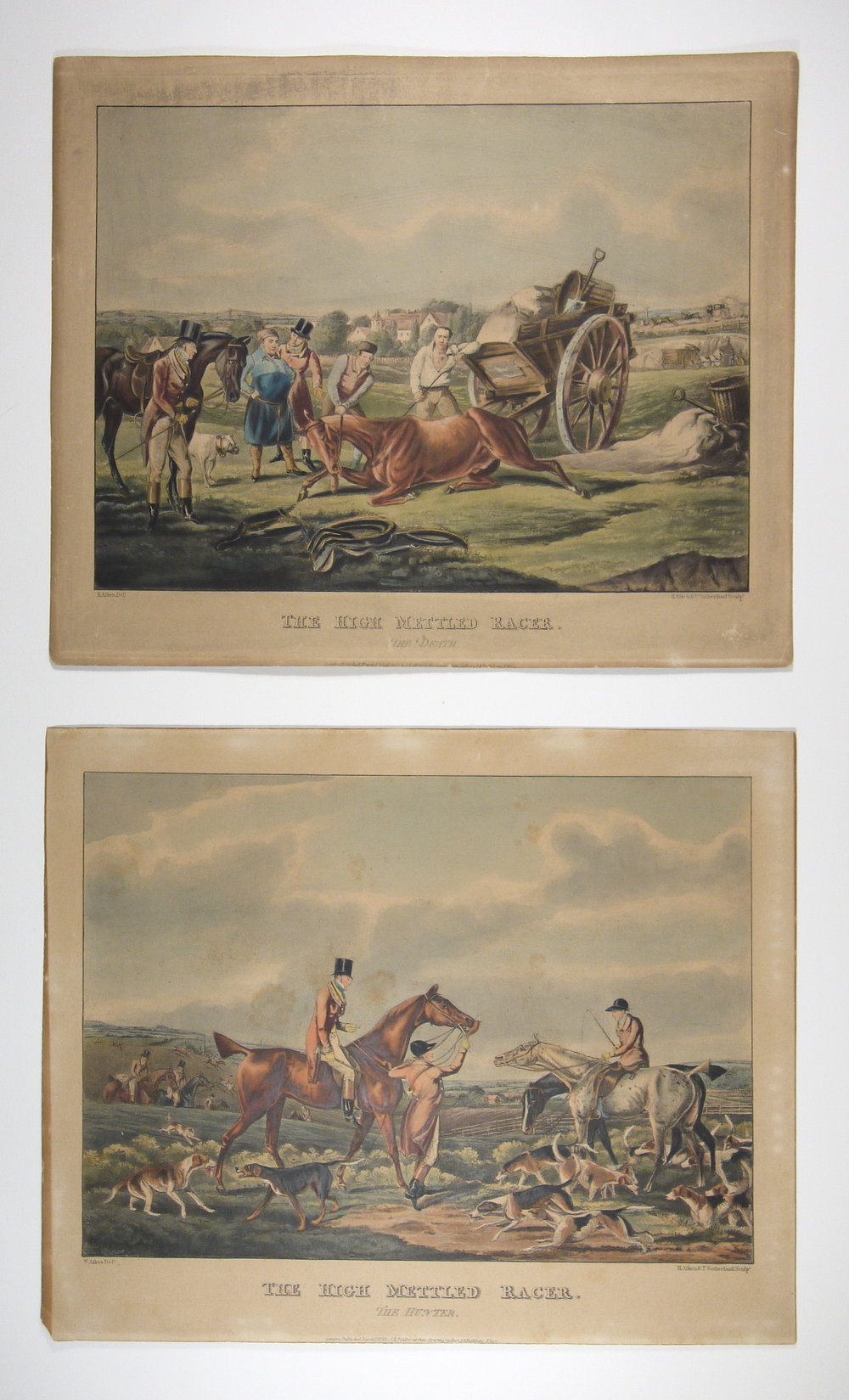 After conservation, the two lithographs match in paper tone.