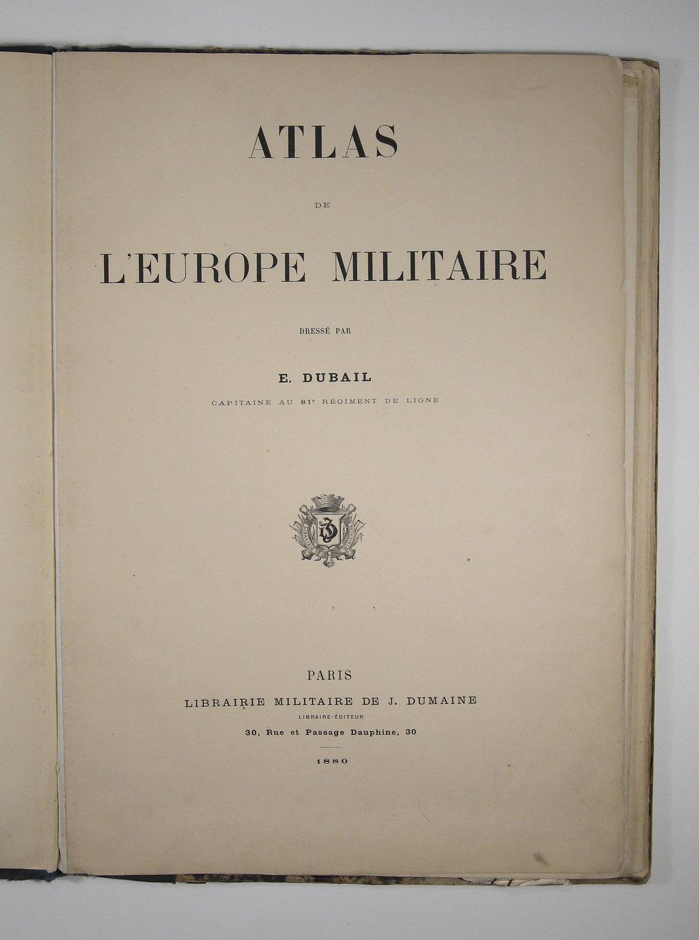 Atlas Militaire 1880
