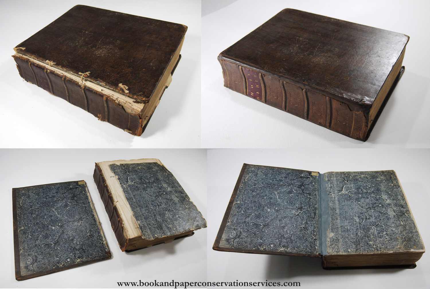 Book Restoration: Family Bible, 1817 — Book and Paper