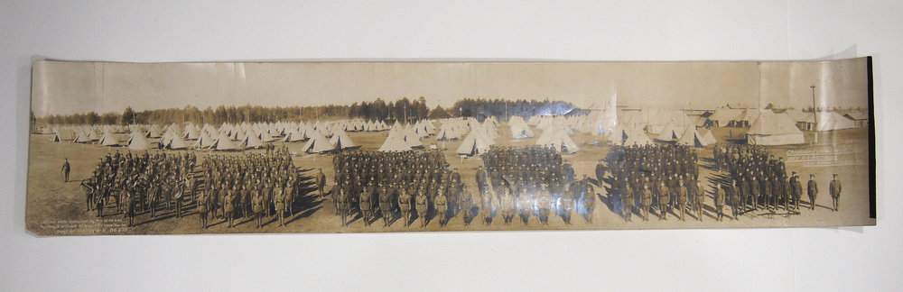 The Lambton 149 Battalion Panorama, after conservation treatment.